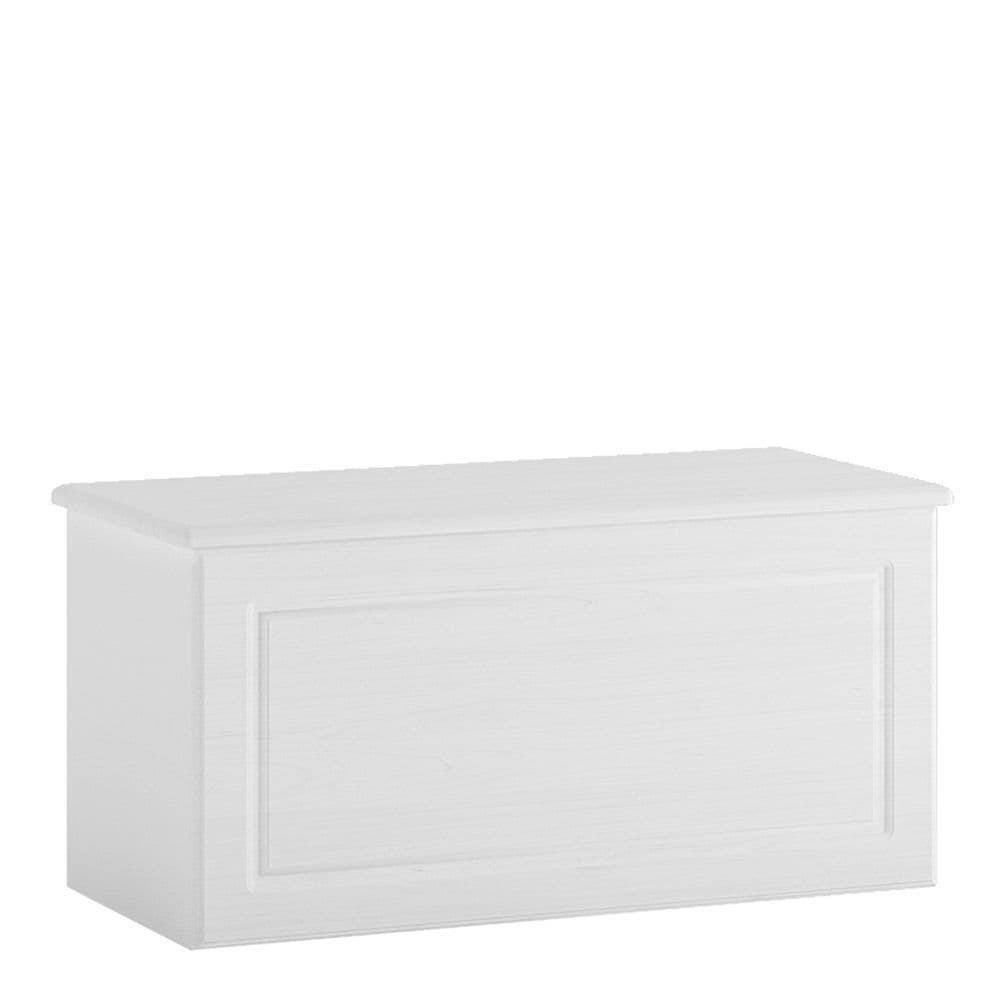 Farringdon Ottoman in White Textured MDF/White melamine